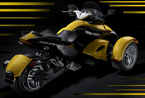 bombardier spyder can am une moto 3 roues. Black Bedroom Furniture Sets. Home Design Ideas