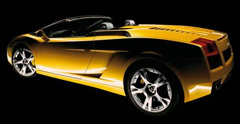 Magnifique photo de la Lamborghini Gallardo Spyder 2007
