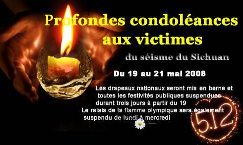 Mobilisation des Montréal en soutien aux victimes du séisme dans la province du Sichuan, Chine