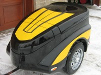 Motorcycle trailer designed for a Spyder motorcycle user !