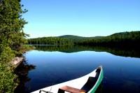 À bord de mon canot sur le lac Clermoutier