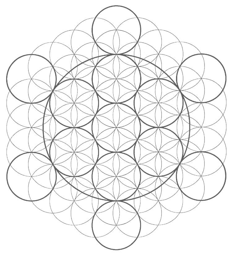 La vie est une géométrie sacrée en désordre apparent