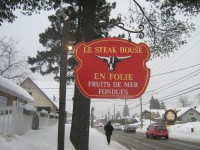 Restaurant le steak house en folie St-sauveur dans les Laurentides