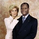 Dominique et Alassane Ouattara