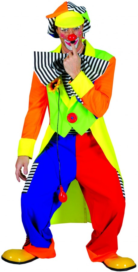 deguisement carnaval costume de clown flashy. Black Bedroom Furniture Sets. Home Design Ideas