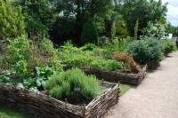 Les bordures du jardin conservatoire en plessis © Montviette Nature
