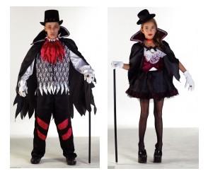 vampire halloween couple enfant. Black Bedroom Furniture Sets. Home Design Ideas
