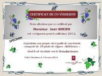 certificat de covigneron