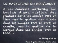 Du marketing 1.0 au marketing 3.0… une brève rétrospective par Philip Kotler, le père du marketing moderne.