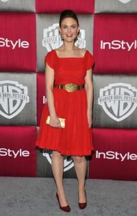Emily Deschanel à la soirée d'InStyle/Warner Bros