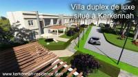 Tunisie a vendre sur une ile d'un archipel de la mediterranee villa en duplex de type S+4 avec jardin et plage privée