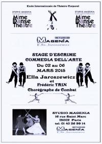 Stage d'escrime théâtrale Commedia dell'arte
