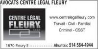 Avocat droit du travail Centre Legal Fleury