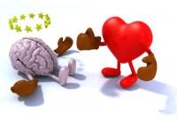 Coeur se battant contre le cerveau